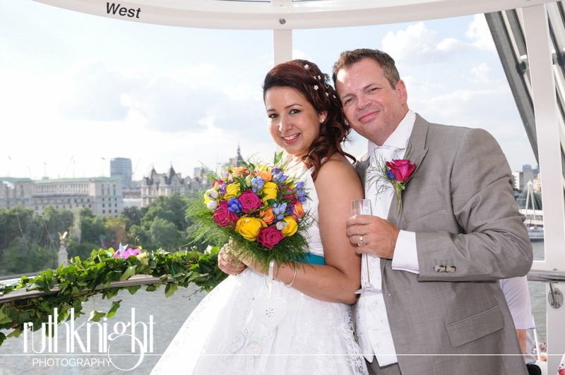 London Wedding Photography on The London Eye – Michelle & Martin