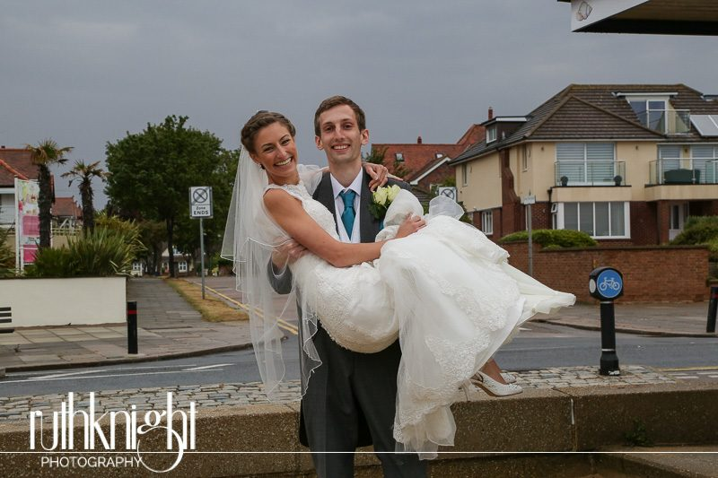Wedding Photography at Leigh Rd, Church & Roslin Beach Hotel, Southend, Essex – Rebekah & Andrew